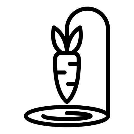 Carrot wire animal trap icon, outline style