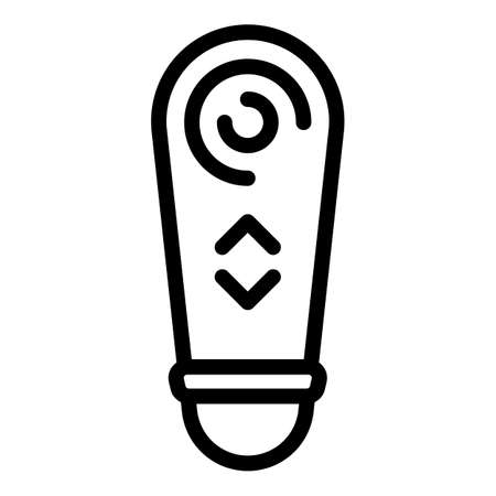 Tv remote control icon, outline style