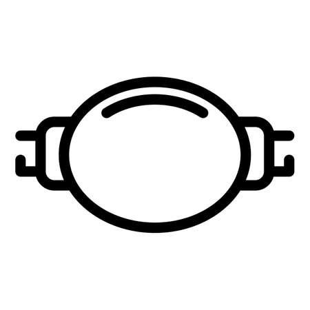 Man waist bag icon, outline style 矢量图像