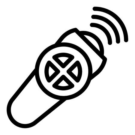 Modern remote control icon, outline style