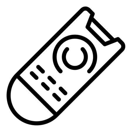 Circle remote control icon, outline style