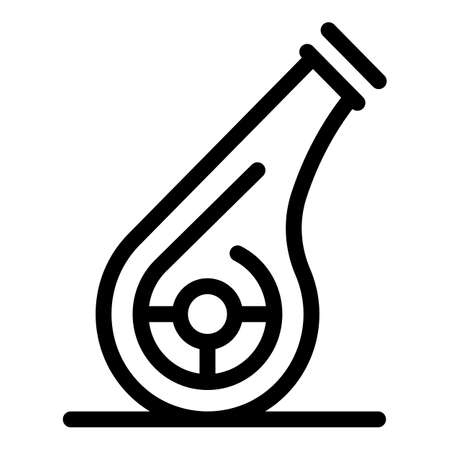 Workout whistle icon, outline style