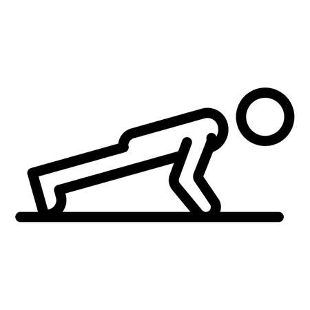 Morning senior push up icon, outline style