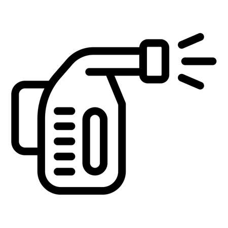 Steam cleaner icon, outline style