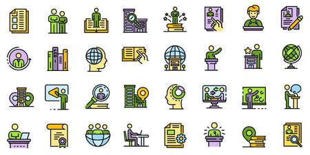 Internship icons set vector flat Illustration