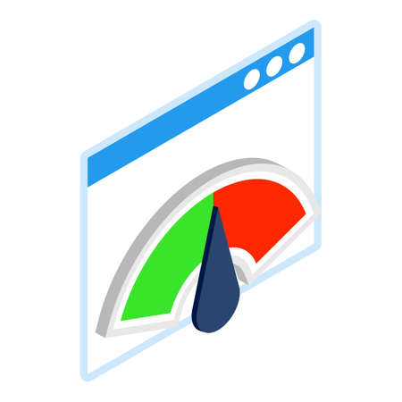 Performance concept icon, isometric style Ilustración de vector