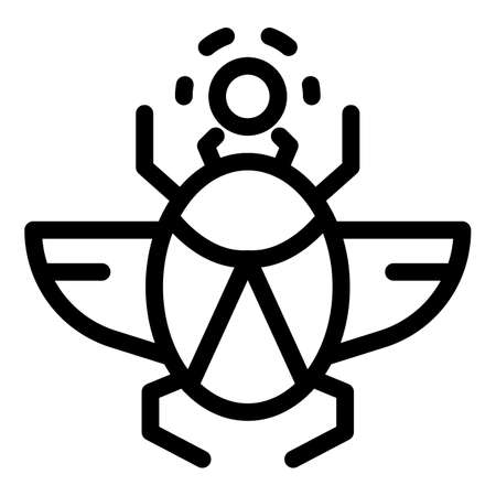 Scarab beetle icon, outline style
