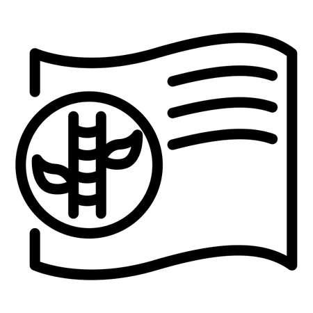 Bamboo textile icon, outline style Vetores
