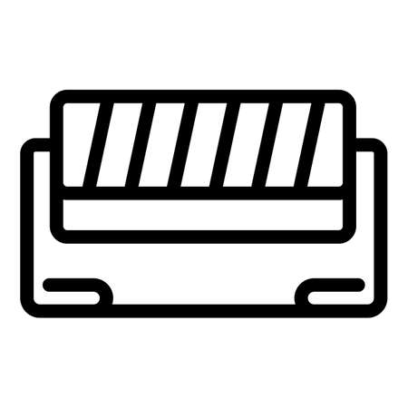 Textile production icon, outline style