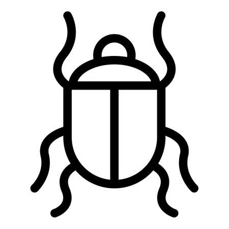 Wild scarab beetle icon, outline style