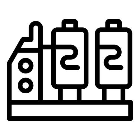 Textile production equipment icon, outline style