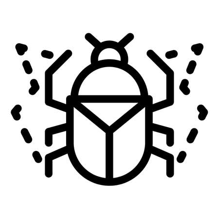 Animal scarab beetle icon, outline style