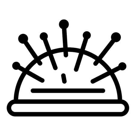Needle pillow icon, outline style