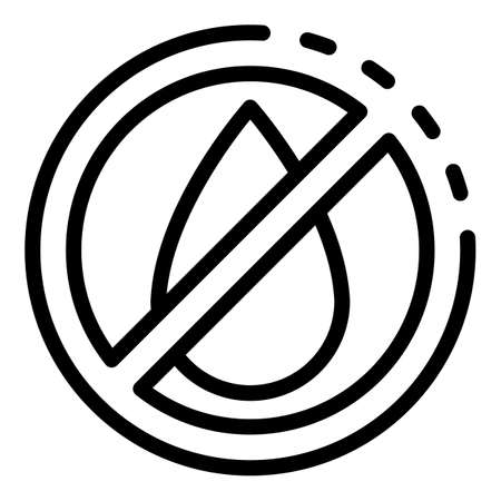 No water digestion icon, outline style