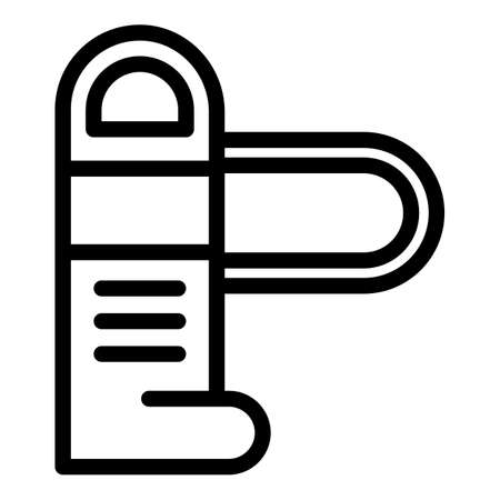 Card turnstile icon, outline style