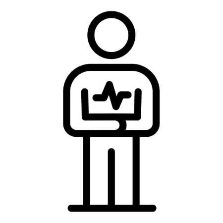 Heartrate personal traits icon, outline style
