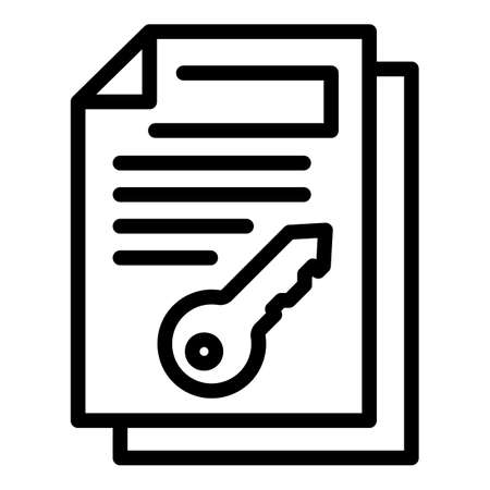 Key remote access icon, outline style