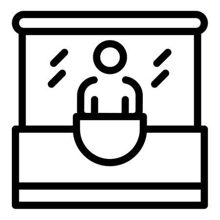 Bus ticket buy kiosk icon, outline style Vektorgrafik