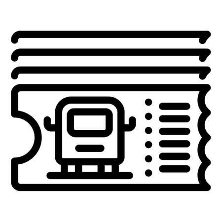 Bus ticket machine icon, outline style 矢量图像