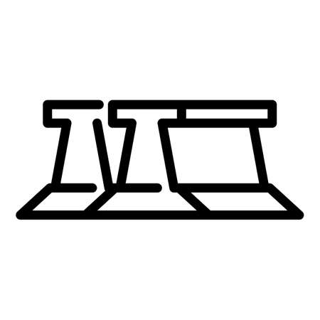 Metallurgy tool icon, outline style  イラスト・ベクター素材