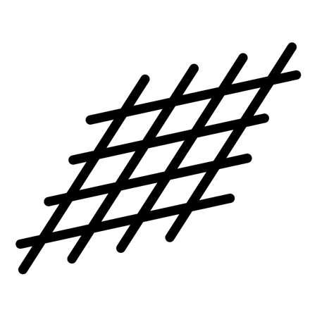 Metallurgy metal net icon, outline style