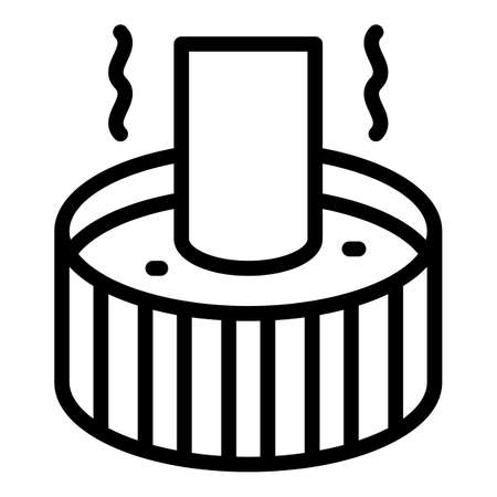 Blacksmith water pot icon, outline style