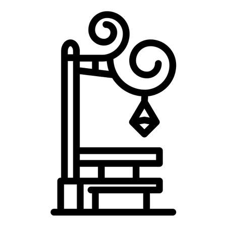 Blacksmith light pillar icon, outline style