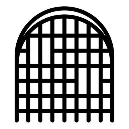 Blacksmith castle gate icon, outline style