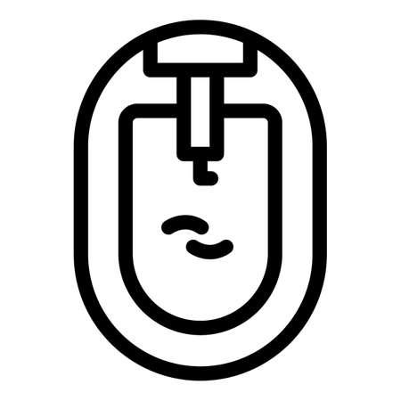 Top view bidet icon, outline style 矢量图像