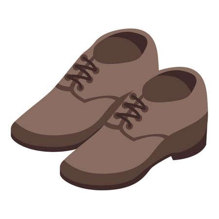 Shoe repair icon, isometric style Vektorové ilustrace