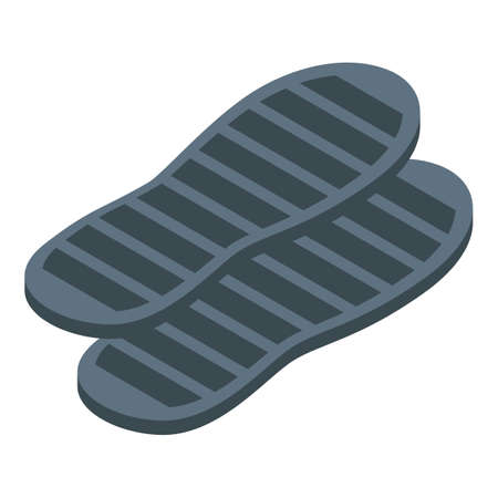 Shoe repair insoles icon, isometric style