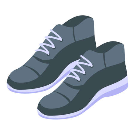 Sport gym shoes icon, isometric style