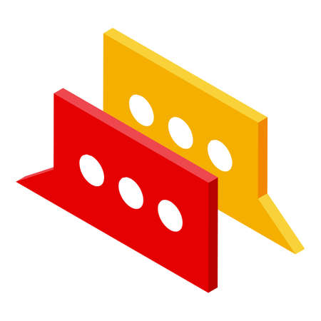 Chat remote access icon, isometric style