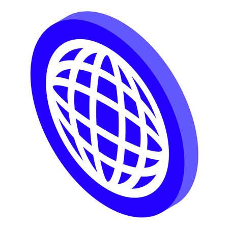Global remote access icon, isometric style Illusztráció
