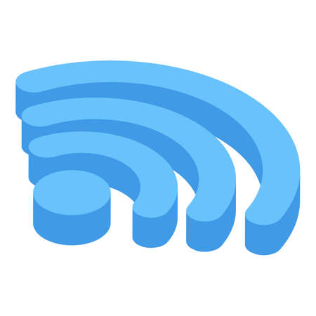 Wifi remote access icon, isometric style