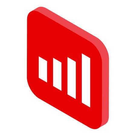 Broadband operating system icon, isometric style Illusztráció