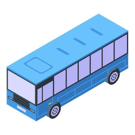 City bus icon, isometric style