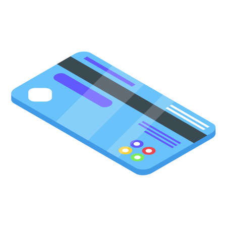 Credit card nfc icon, isometric style