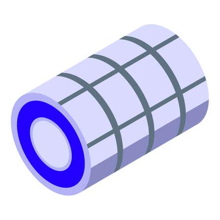 Metallurgy steel roll icon, isometric style  イラスト・ベクター素材