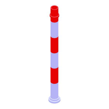 Metallurgy smoke tower icon, isometric style