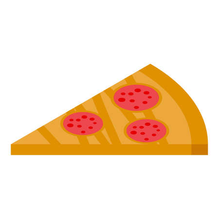 Eat pizza habit icon, isometric style Ilustração