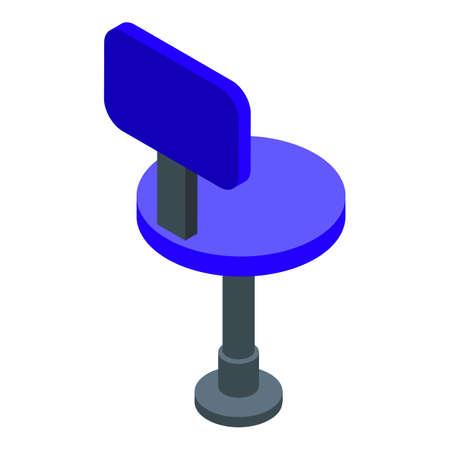 Office chair icon, isometric style Illusztráció
