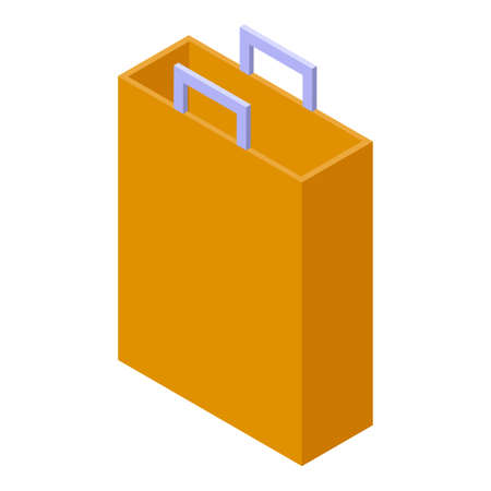 Bag storage icon, isometric style