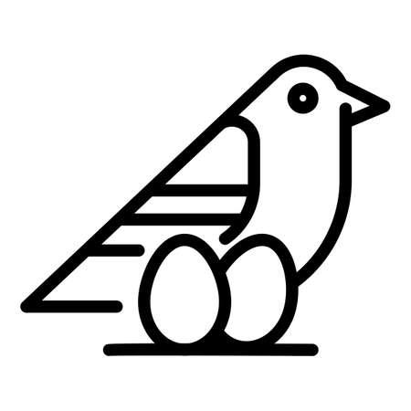 Quail eggs icon, outline style Ilustracje wektorowe