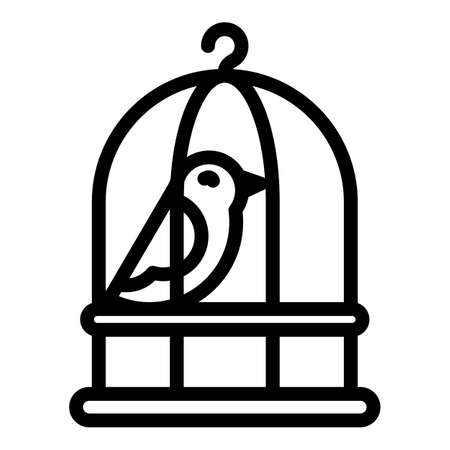 Quail cage icon, outline style