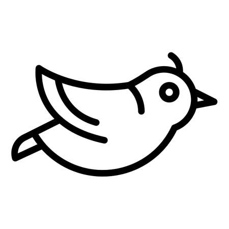 Flying quail icon, outline style