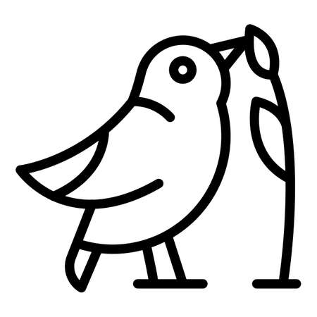 Quail icon, outline style