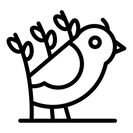 Field quail icon, outline style