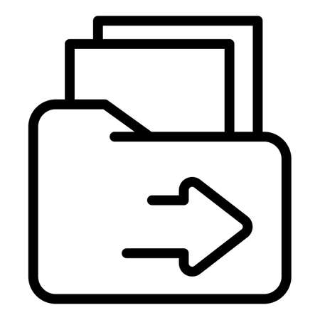 Restructuring folder icon, outline style