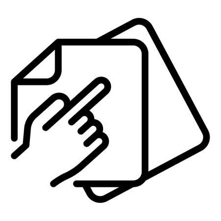 Refer restructuring icon, outline style